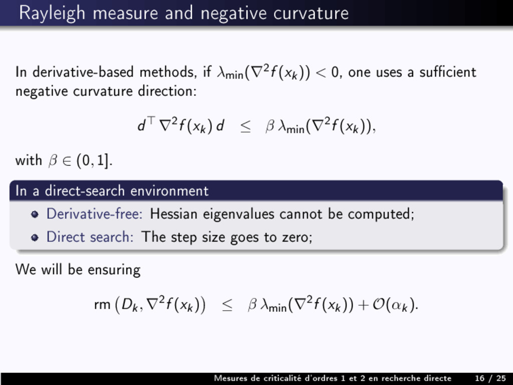 Rayleigh measure and negative curvature In deri...