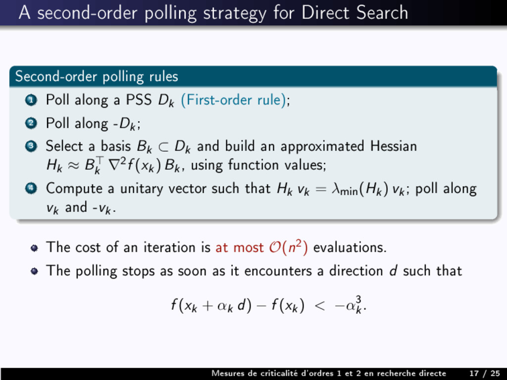 A second-order polling strategy for Direct Sear...