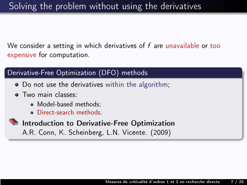Solving the problem without using the derivativ...