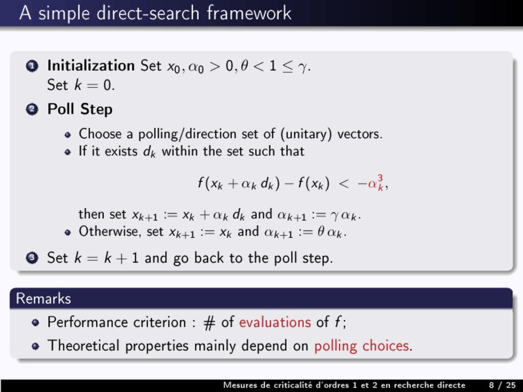 A simple direct-search framework 1 Initializati...