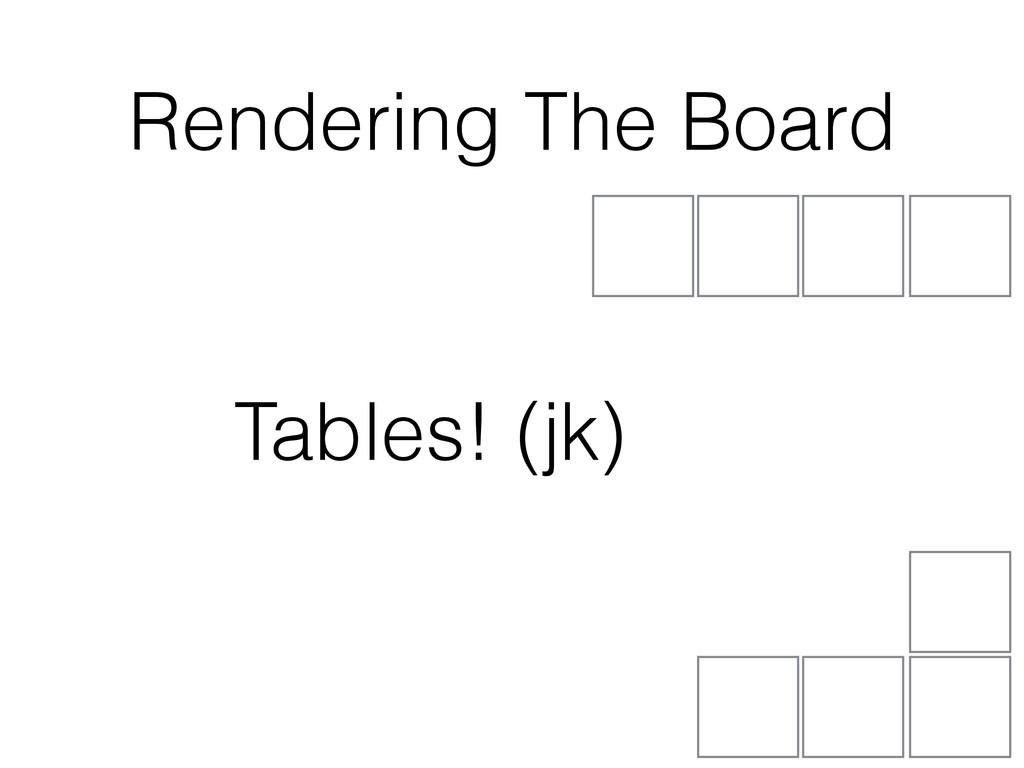 (jk) Rendering The Board Tables!