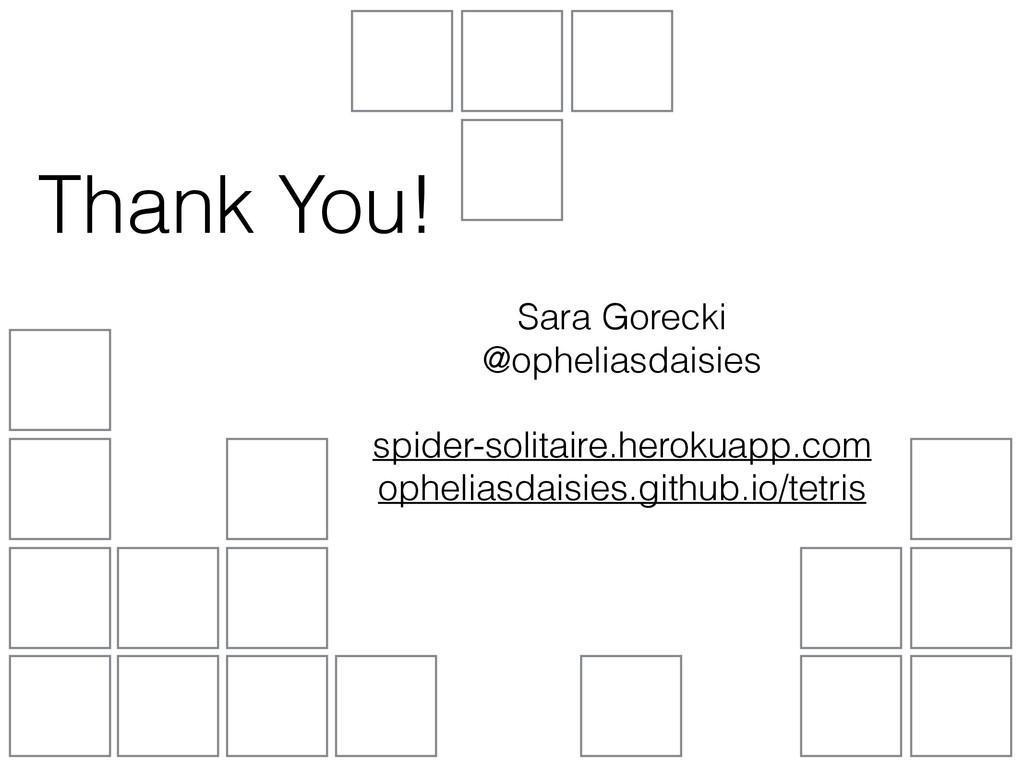 Thank You! Sara Gorecki @opheliasdaisies spide...