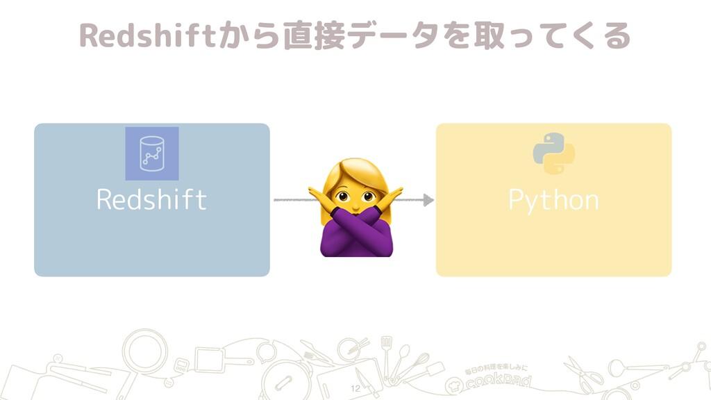 Redshiftから直接データを取ってくる Redshift Python 12