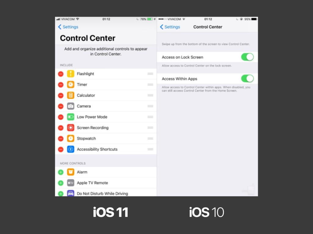 iOS 11 iOS 10