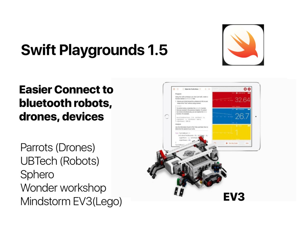 Swift Playgrounds 1.5 Parrots (Drones)