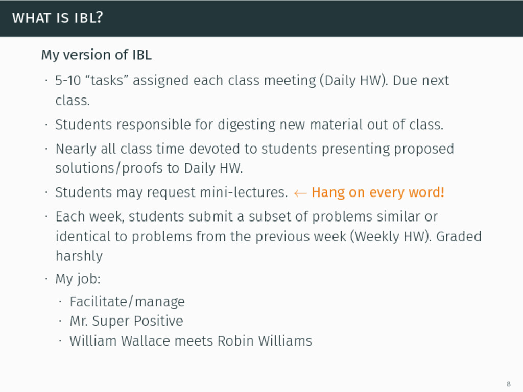 """what is ibl? My version of IBL ∙ 5-10 """"tasks"""" a..."""
