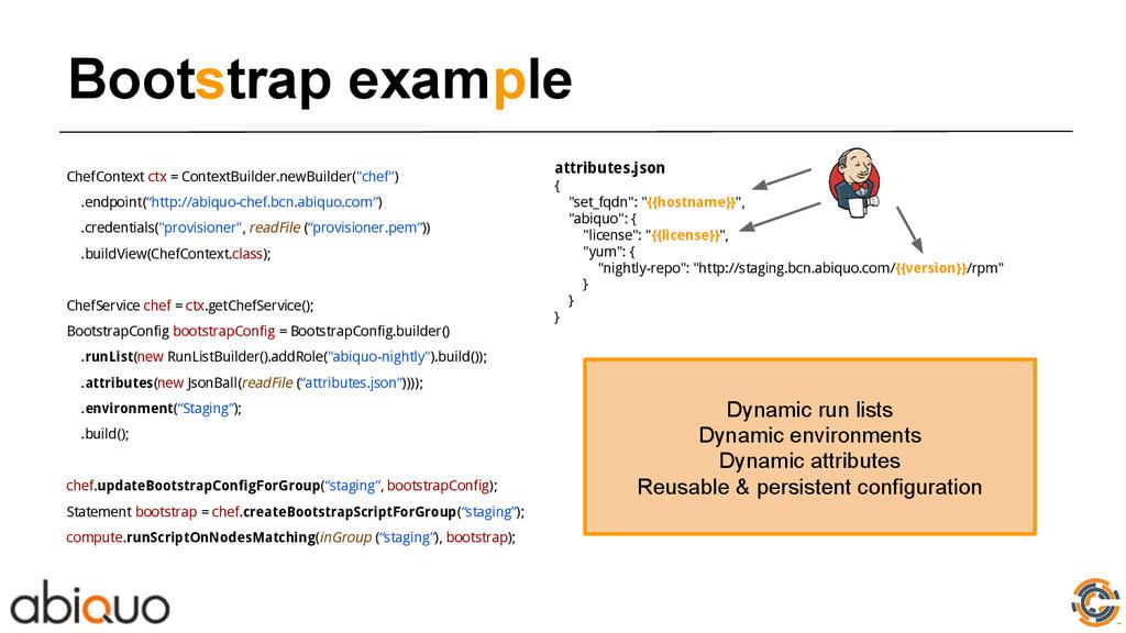 Bootstrap example ChefContext ctx = ContextBuil...