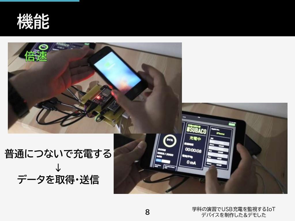 機能 学科の演習でUSB充電を監視するIoT デバイスを制作した&デモした 8 普通につないで...