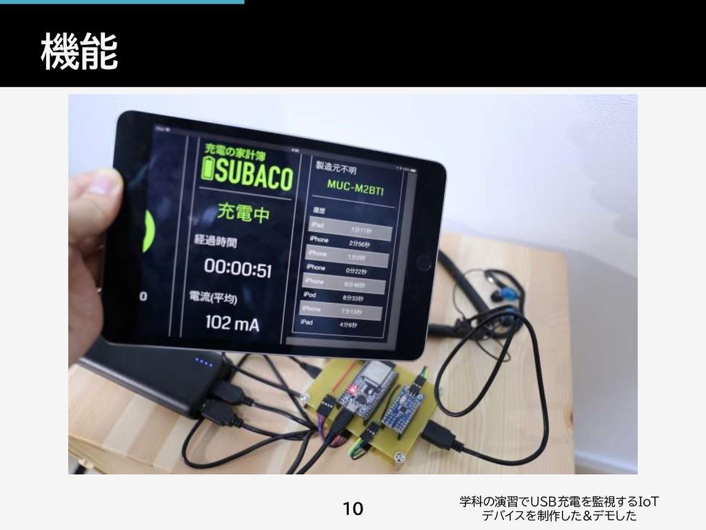 機能 学科の演習でUSB充電を監視するIoT デバイスを制作した&デモした 10