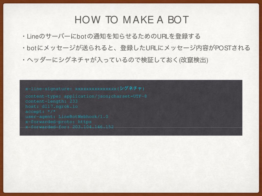 HOW TO MAKE A BOT ɾLineͷαʔόʔʹbotͷ௨ΛΒͤΔͨΊͷURLΛ...