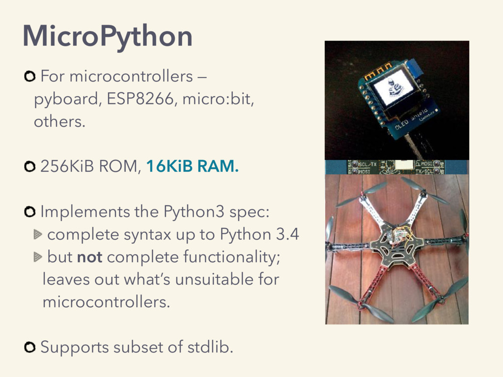 MicroPython For microcontrollers —  pyboard, E...
