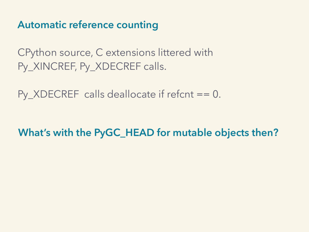 Automatic reference counting CPython source, C ...