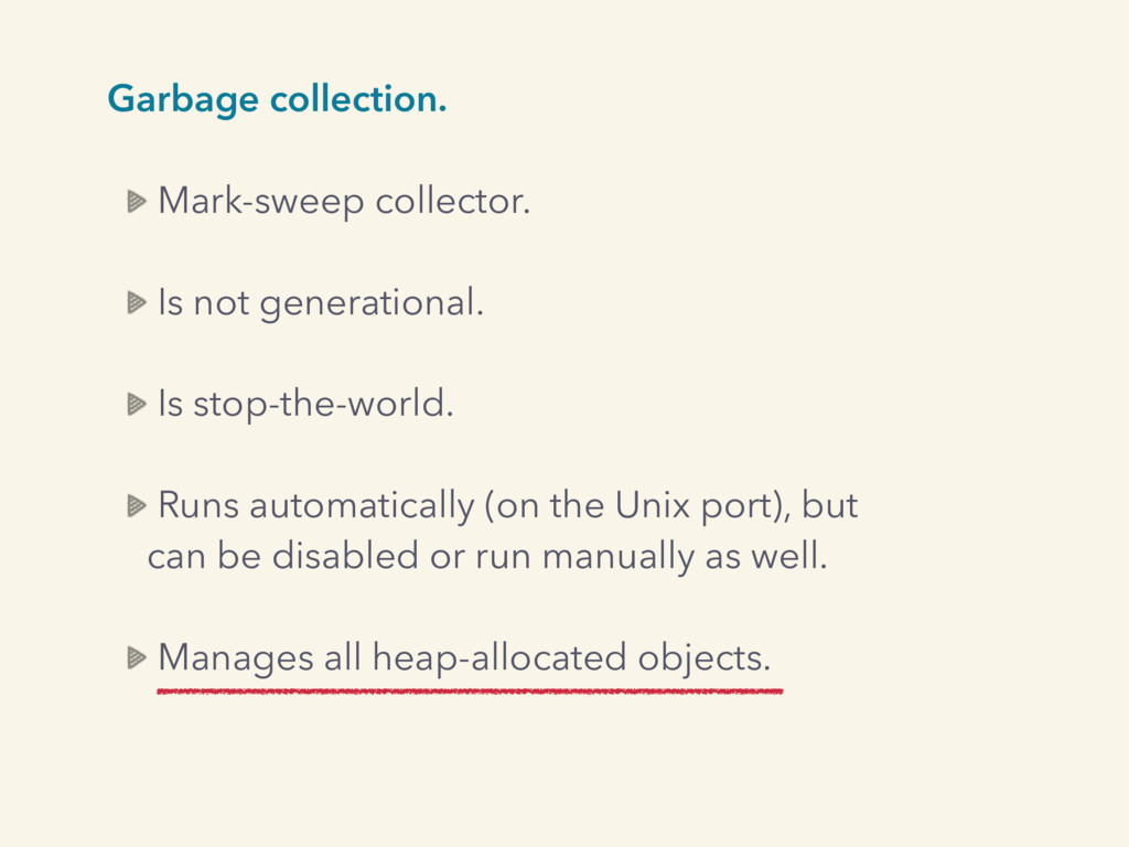 Garbage collection. Mark-sweep collector. Is no...
