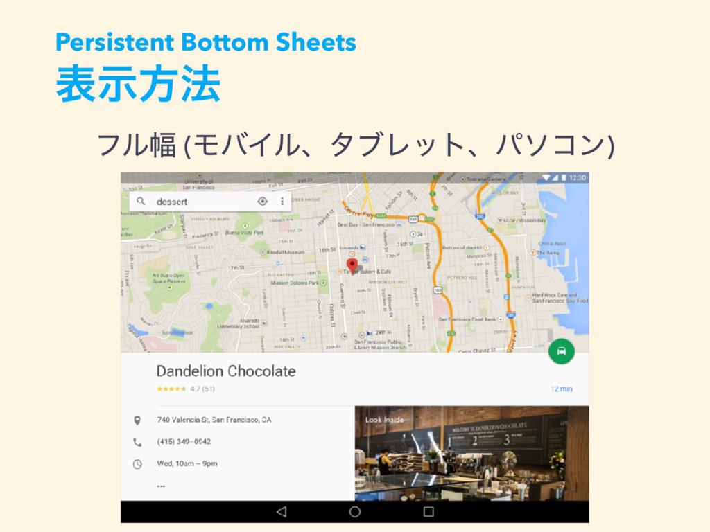 දࣔํ๏ ϑϧ෯ (ϞόΠϧɺλϒϨοτɺύιίϯ) Persistent Bottom Sh...