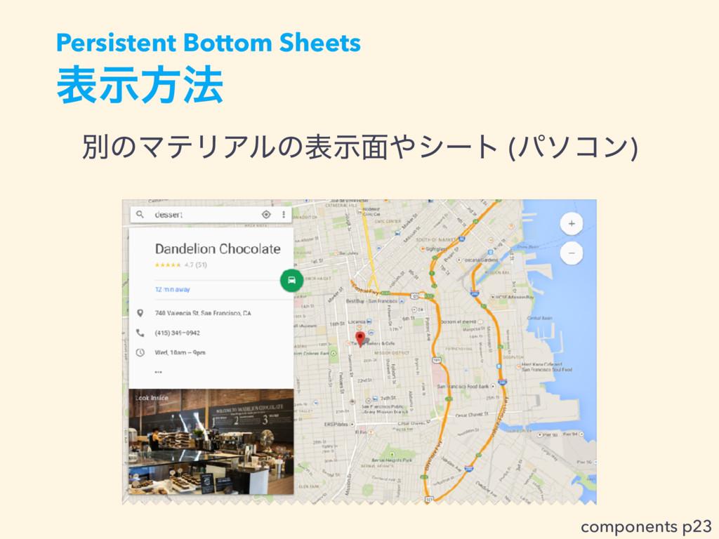 දࣔํ๏ ผͷϚςϦΞϧͷදࣔ໘γʔτ (ύιίϯ) Persistent Bottom S...