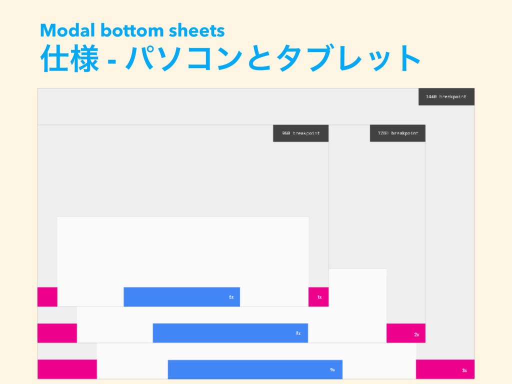 ༷ - ύιίϯͱλϒϨοτ Modal bottom sheets