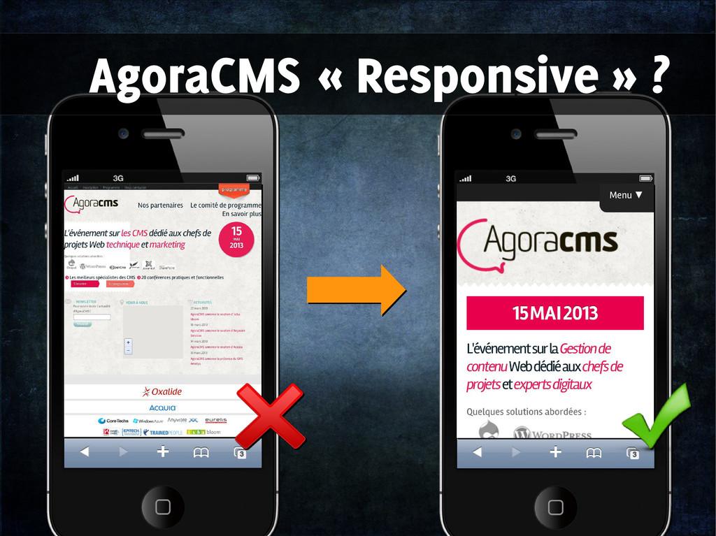 AgoraCMS « Responsive » ?