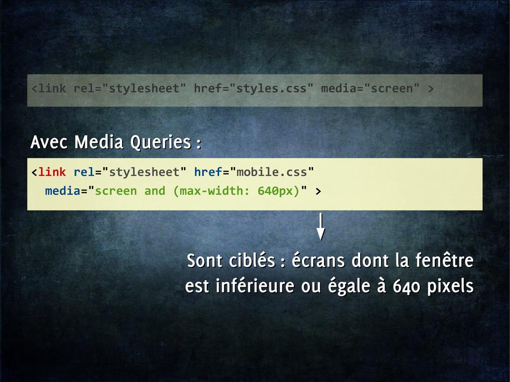 """<link rel=""""stylesheet"""" href=""""mobile.css"""" media=..."""