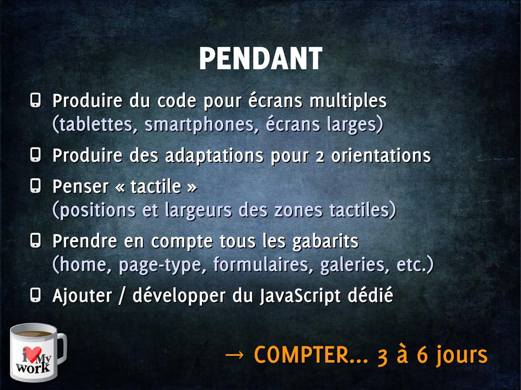PENDANT Produire du code pour écrans multiples ...
