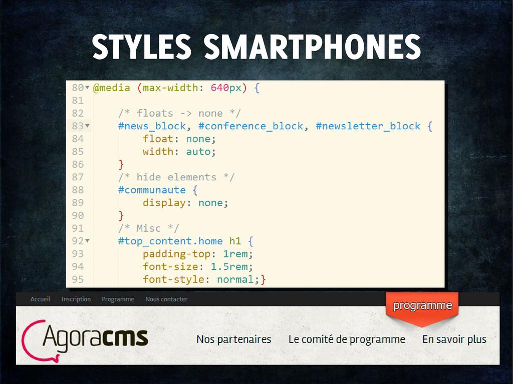 STYLES SMARTPHONES
