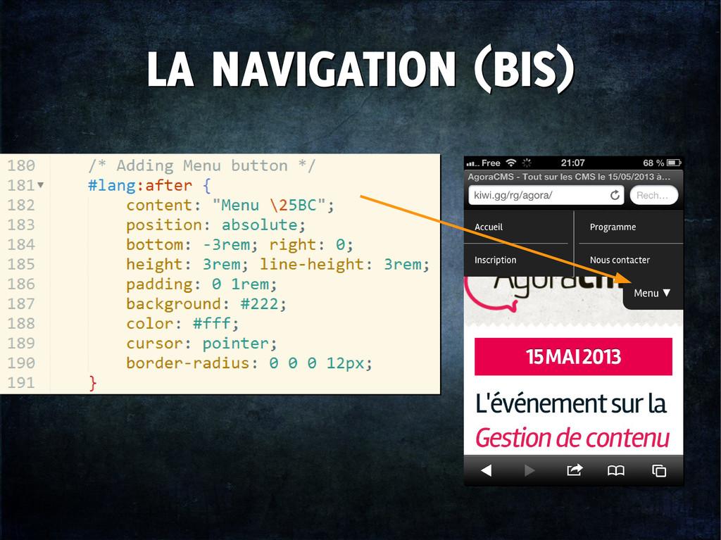 LA NAVIGATION (BIS) LA NAVIGATION (BIS)