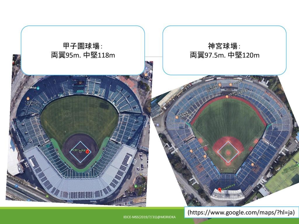 IEICE-MSS(2019/7/31)@MORIOKA 4 甲子園球場: 両翼95m. 中堅...