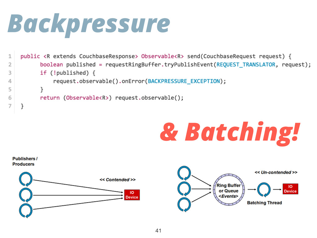 Backpressure & Batching! 41