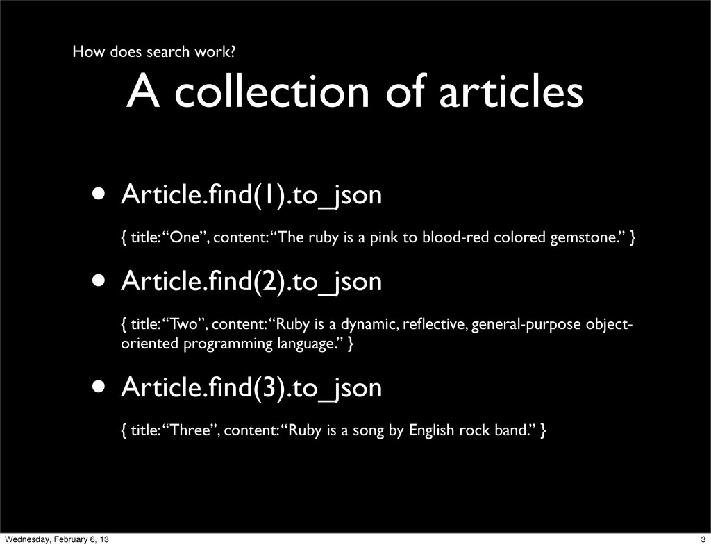 How does search work? A collection of articles ...