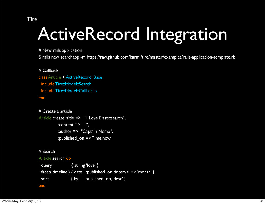 Tire ActiveRecord Integration # New rails appli...