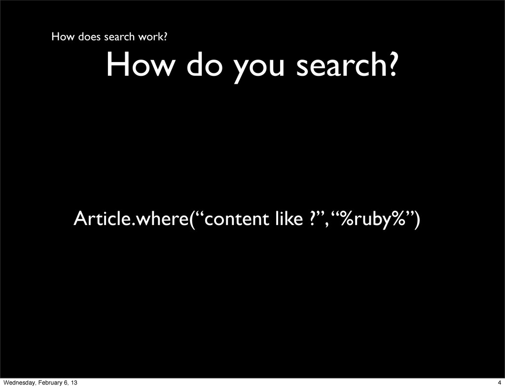 How does search work? How do you search? Articl...