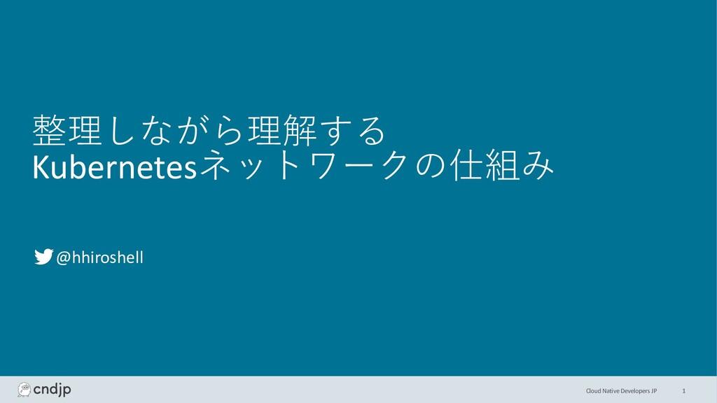 Cloud Native Developers JP 整理しながら理解する Kubernete...