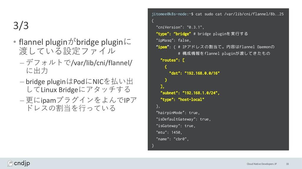 Cloud Native Developers JP 3/3 • flannel plugin...