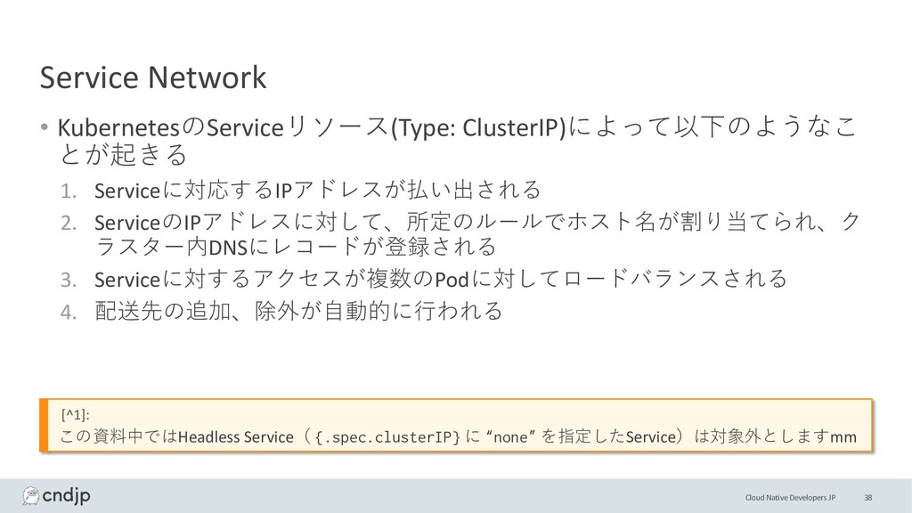 Cloud Native Developers JP Service Network • Ku...