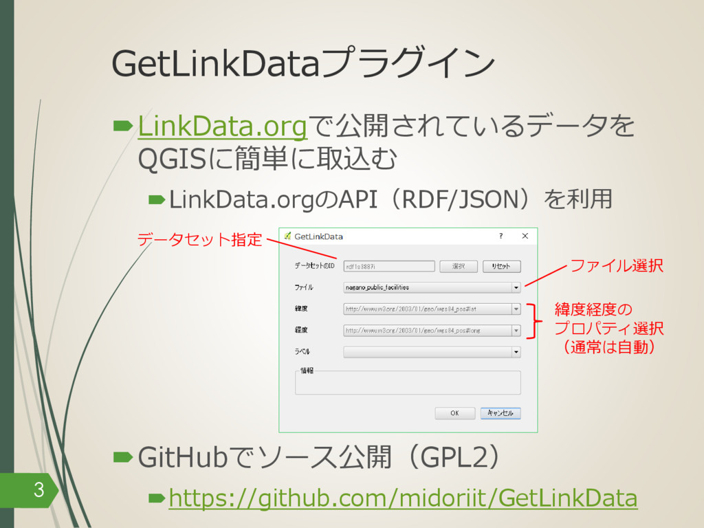 GetLinkDataプラグイン –LinkData.orgで公開されているデータを QGIS...
