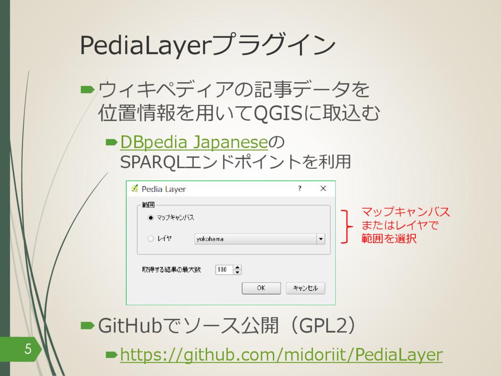 PediaLayerプラグイン –ウィキペディアの記事データを 位置情報を⽤いてQGISに取込...