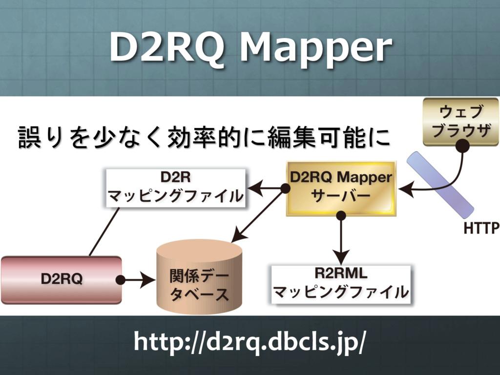 D2RQ Mapper 誤りを少なく効率的に編集可能に http://d2rq.dbcls.j...