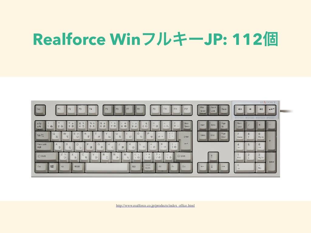 Realforce WinϑϧΩʔJP: 112ݸ http://www.realforce....