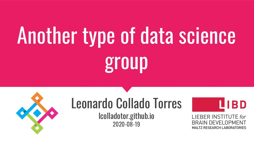 Another type of data science group Leonardo Col...