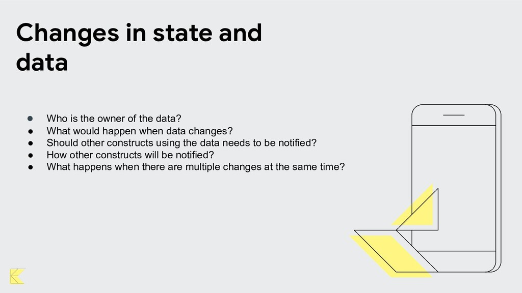 Changes in state and data ● Who is the owner of...