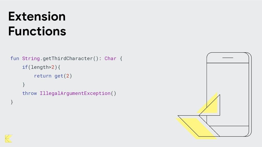 fun String.getThirdCharacter(): Char { if(lengt...