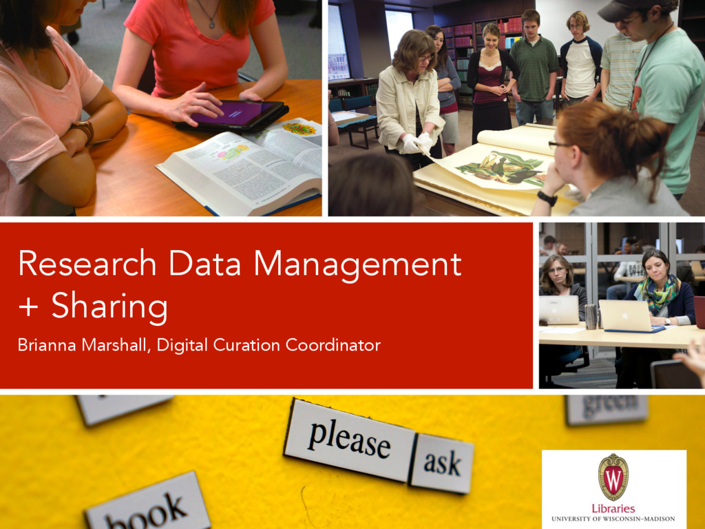 Brianna Marshall, Digital Curation Coordinator ...