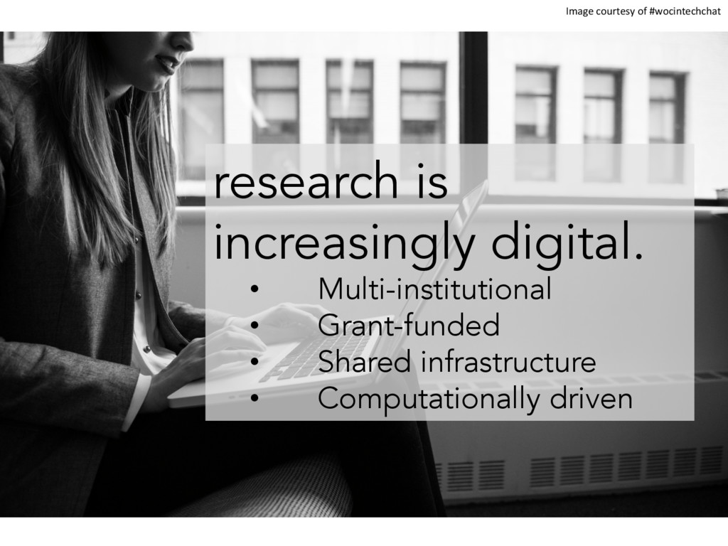 research is increasingly digital. •  Multi-inst...