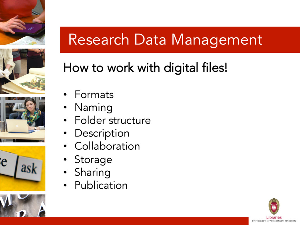 Research Data Management How to work with digit...