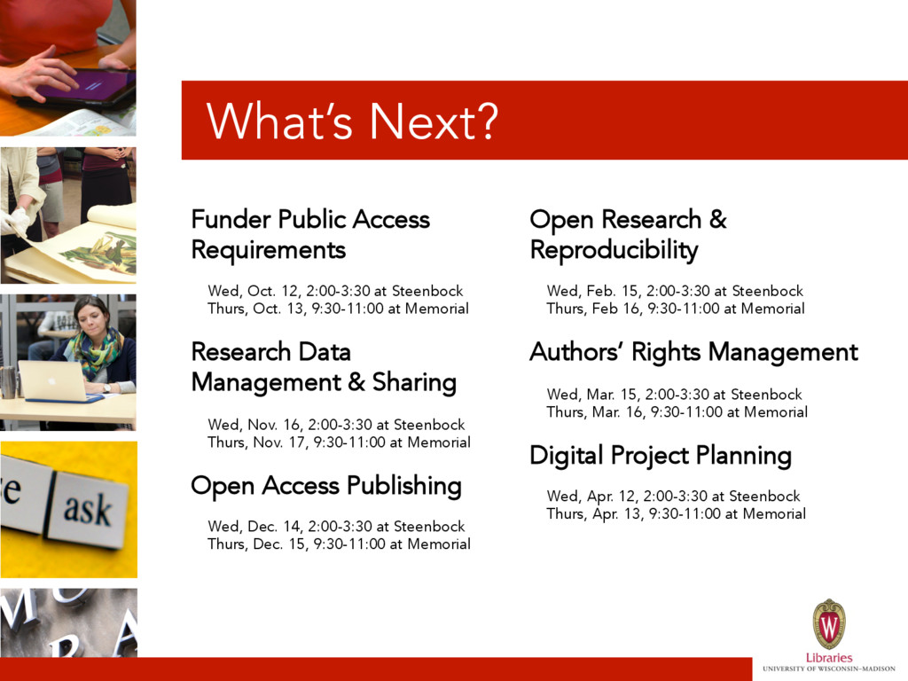 What's Next? Funder Public Access Requirements ...