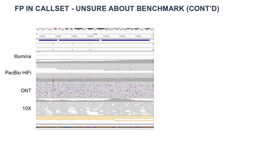 FP IN CALLSET - UNSURE ABOUT BENCHMARK (CONT'D)...
