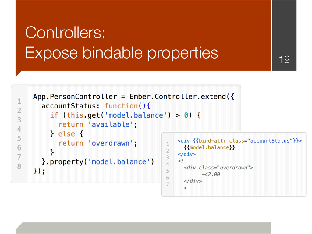 Controllers: Expose bindable properties !19