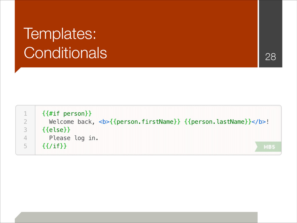 Templates: Conditionals !28