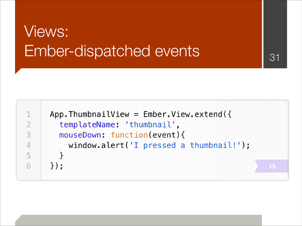 Views: Ember-dispatched events !31