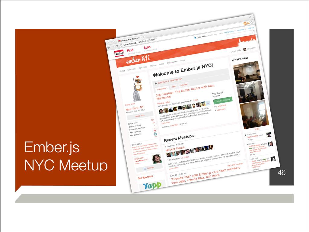 Ember.js NYC Meetup !46