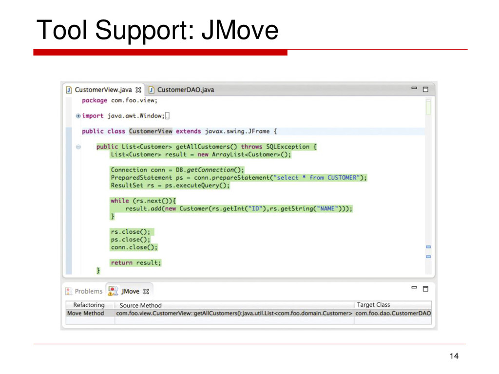 Tool Support: JMove 14